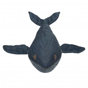 Knuffel Whale Denim