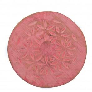 Houten wandklos  roze maat M