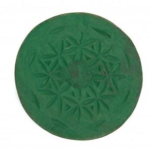 Houten wandklos  groen maat M