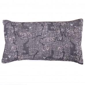 Kussen Crocodil Naturel / grijs 30/50 cm